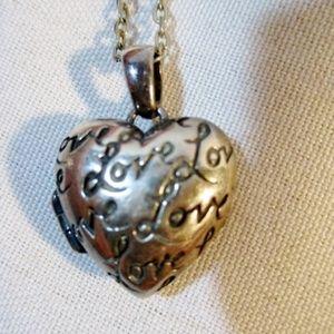 Jewelry - 925 STERLING SILVER LOCKET LOVE HEART Necklace